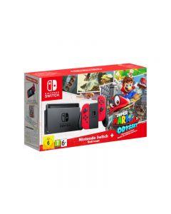 เครื่องเล่นเกมพกพา (สีแดง) รุ่น Switch Super Mario Odyssey Bundle Niswrd-Mario