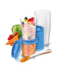 ชุดถ้วยเวียบรรจุน้ำนม/อาหาร (6/9 oz, 20 ชิ้น) รุ่น SCF721/20