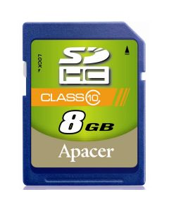 เมมโมรีการ์ด Apacer รุ่น SDHC CLASS10 ขนาดความจุ 8GB