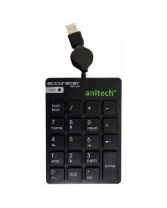 แป้นพิมพ์ตัวเลข Anitech รุ่น N180-BK   สีดำ