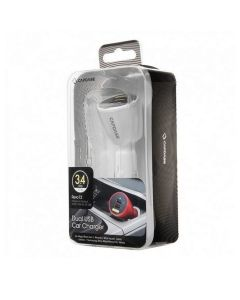 CAR CHARGER DUAL USB CAPDASE #REVO T2 WH