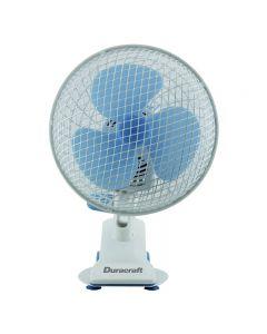 "Duracaft Table Fan (8"") CLIP CLAP BL"