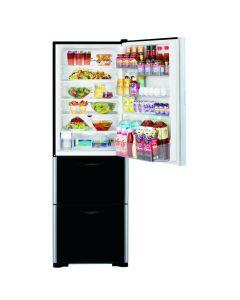 ตู้เย็น 3 ประตู (12.9 คิว, สีกระจกดำ) รุ่น R-SG38FPTH