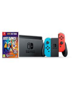 เครื่องเล่นเกมพกพา (สี Neon) รุ่น Switch + เกม Just Dance 2017 NISWNE-JD2017
