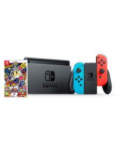 เครื่องเล่นเกมพกพา (สี Neon) รุ่น Switch + เกม Bumberman NISWGR-BBM