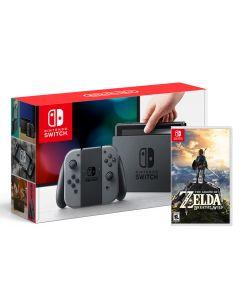 เครื่องเล่นเกมพกพา (สีเทา) รุ่น Switch + เกม Zelda NISWGR-ZDA