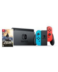เครื่องเล่นเกมพกพา (สี Neon) รุ่น Switch + เกม Zelda NISWNE-ZDA