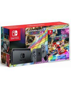 เครื่องเล่นเกมพกพา (สีเทา) รุ่น Switch + เกม Mario Kart 8 Deluxe NISWGR-MARIO