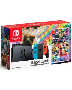 เครื่องเล่นเกมพกพา (สี Neon) รุ่น Switch + เกม Mario Kart 8 Deluxe NISWNE-MARIO