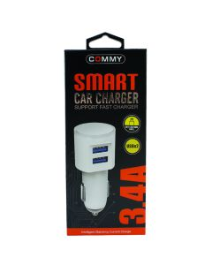 CAR CHARGER USB 3.4A MICRO COMMY CCU 3.4A MICRO