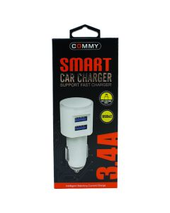 CAR CHARGER USB 3.4A 8 PIN COMMY CCU 3.4A 8 PIN