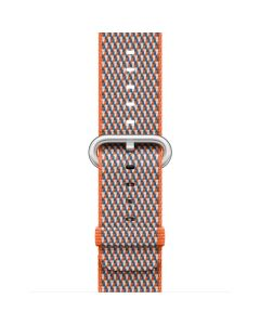 APPLE WATCHBAND 42MM MQVP2FE/A SPCY ORNG CHECK WVN NYL
