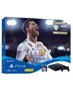 เครื่องเล่นเกมคอนโซล PS4 (500GB, สีดำ) รุ่น FIFA 18 Bundle Pack