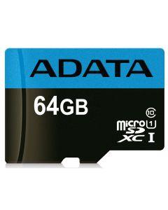 64GB MICRO SDXC PREMIER CLASS 10 ADAPTER ADATA USDX64GUICL10