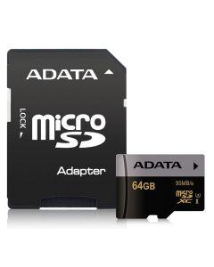 64GB MICRO SDXC PMR PRO UHS-I U3 ADT ADATA USDX64GUI3CL10