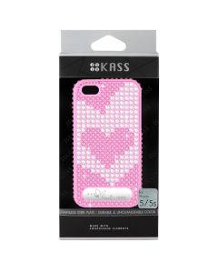 เคสสำหรับ iPhone 5/5s (สีDark Pink) รุ่น OURHEARTS1D.PK