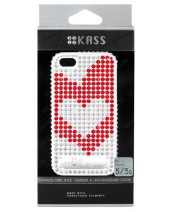 เคสสำหรับ iPhone 5/5s (สีขาว) รุ่น OURHEARTS1WH