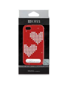 เคสสำหรับ iPhone 5/5s (สีแดง) รุ่น OURHEARTS2