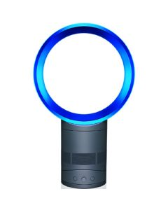 """พัดลมตั้งโต๊ะไร้ใบพัด (10"""", สีIron/Blue) รุ่น AM01"""