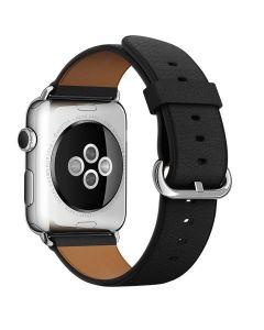 สายนาฬิกา Classic Buckle (42 มม., Leather Loop, สีดำ)