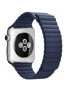 สายนาฬิกา (42 mm, Leather Loop สี Midnight Blue)