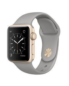 Apple Watch  S1 MNNJ2TH/A 38 mm. Gold Aluminium Case with Concrete Sport Band