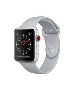 Watch Series 3 GPS+CELLULAR (42mm, ตัวเรือนอลูมิเนียมสีเงิน, สายSport สีเทาหมอก)