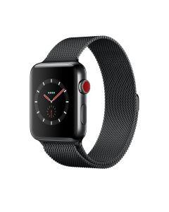 Watch Series 3 GPS+CELLULAR (38mm, ตัวเรือนสเตนเลสสตีลสี Space Black , สาย Milanese Loop สี Space Black)