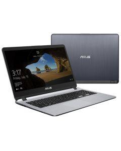 """โน้ตบุ๊ค (15.6"""", RAM 4GB, HDD 1TB, สีเทา) รุ่น X507UB-BR174T"""