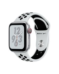 Watch Nike+ Series 4 GPS+Cellular (40mm, Silver Aluminium Case with Pure Platinum/Black Nike Sport Band)