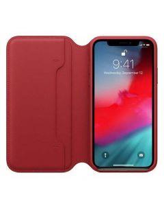เคสหนังแบบฝาปิดสำหรับ iPhone XS (Product Red)